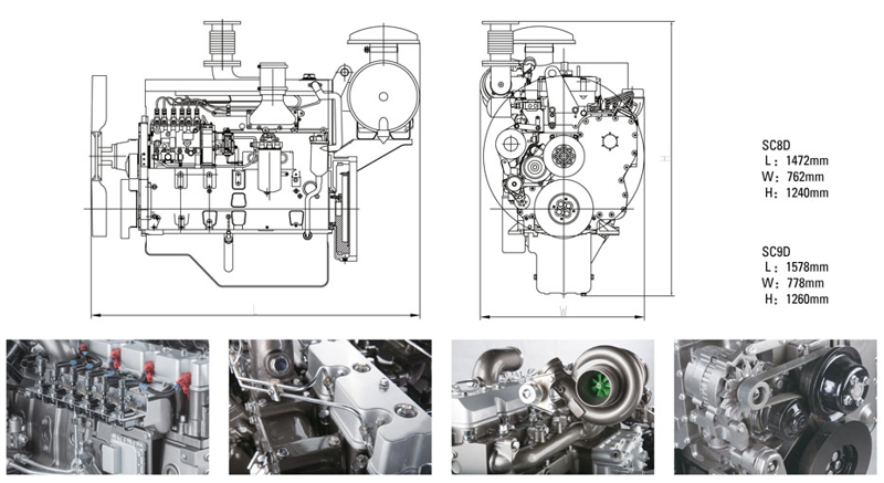 上柴股份200千瓦柴油发电机组技术参数型号规格