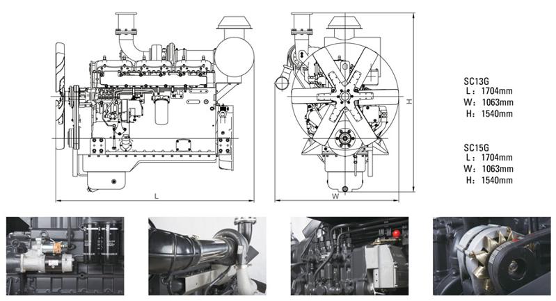 上柴股份500千瓦柴油发电机组技术参数规格型号
