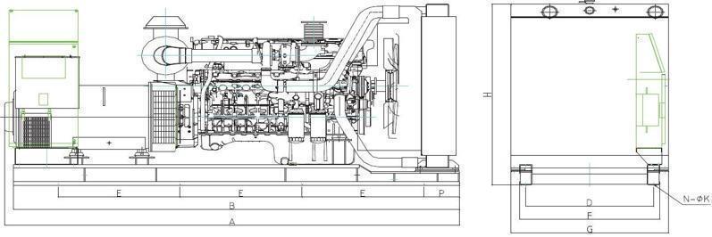 上柴股份250千瓦柴油发电机组图谱技术参数